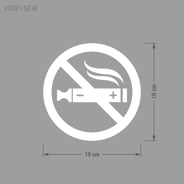Naklejka Zakaz Palenia. Zakaz Palenia Papierosów Elektroniczych.