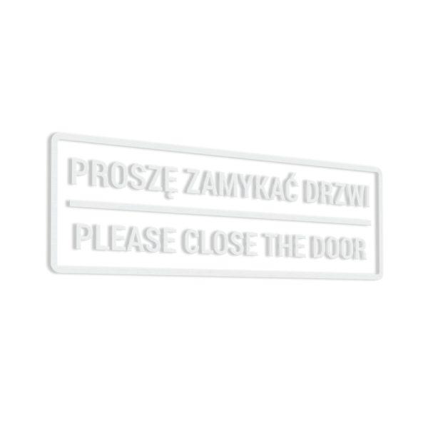 Naklejka - Proszę Zamykać Drzwi