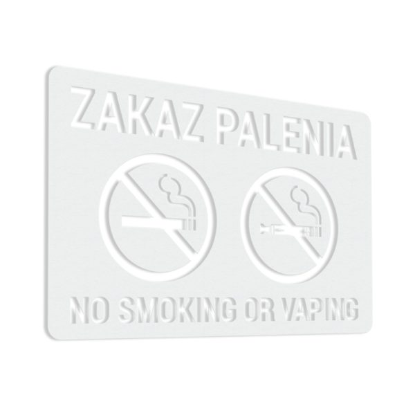 Naklejka Zakaz Palenia - No Smoking Or Vaping