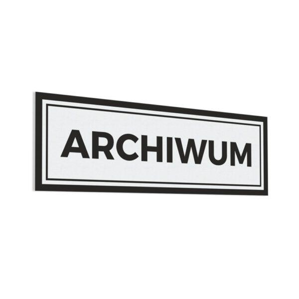 Naklejka z napisem Archiwum