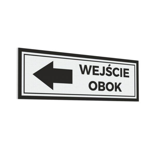 """Naklejka """"Wejście Obok"""" Strzałka"""