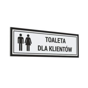 Naklejka Toaleta dla Klientów
