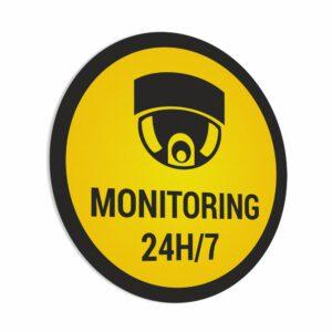 Naklejka Monitoring 24h/7