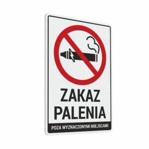 Naklejka Zakaz Palenia Poza Wyznaczonymi Miejscami