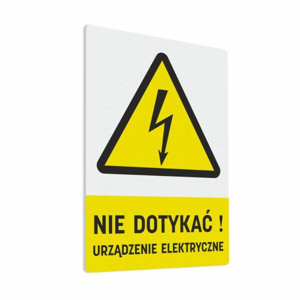 """Naklejka ostrzegawcza """"Nie Dotykać! Urządzenie Elektryczne"""""""