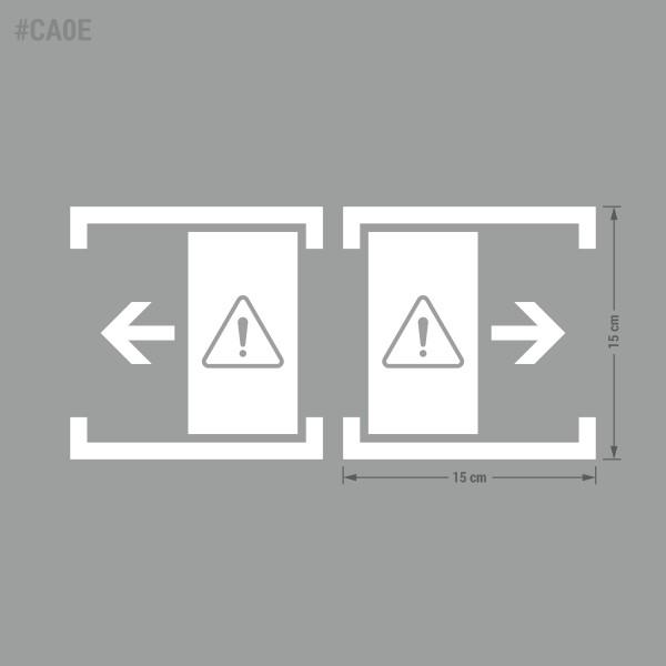 Nakleja informacyjna, ostrzegawcza, BHP: Drzwi Automatyczne, Drzwi Przesuwne.