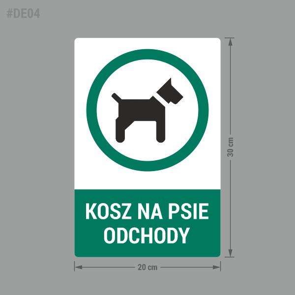 Naklejka na kosz na psie odchody.