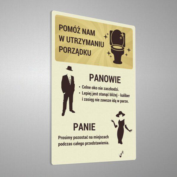 Naklejki informacyjne do toalety. Pomóż nam w utrzymaniu porządku. Toaleta. Porządek. Czystość. BHP