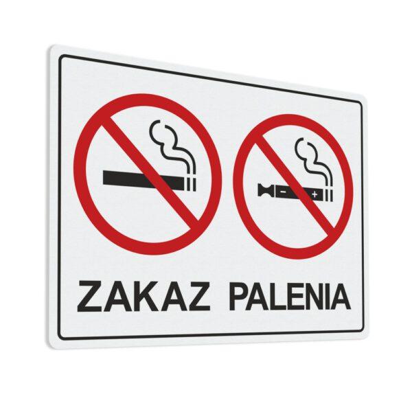 Naklejka Zakaz Palenia tytoniu oraz zakaz palenia papierosów elektronicznych.