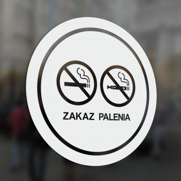 Naklejka Zakaz Palenia, okrągła.