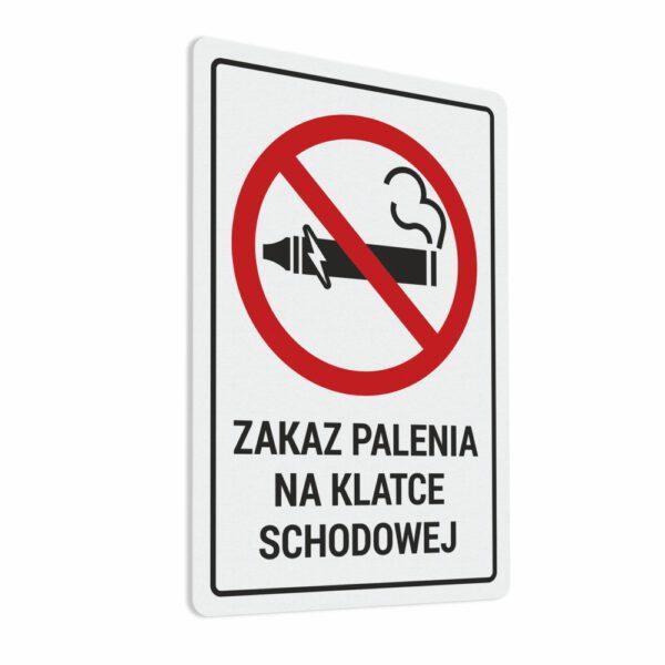 Naklejka Zakaz Palenia na klatce schodowej.