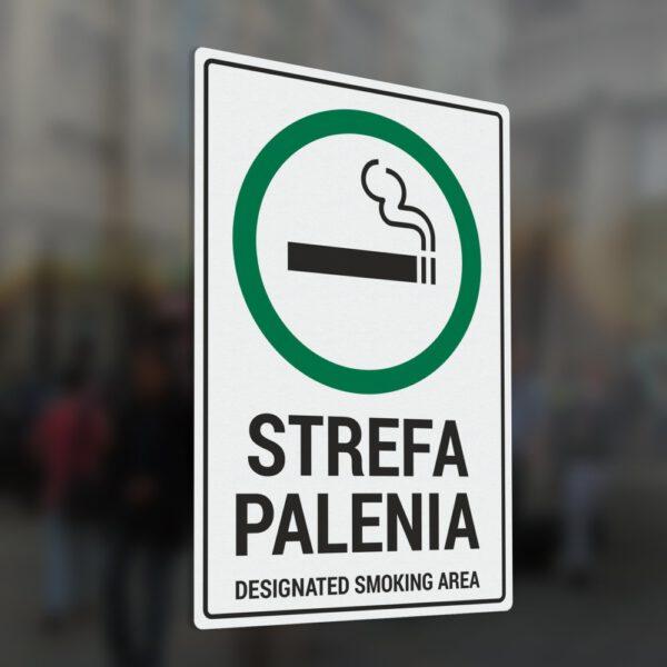 Naklejka Strefa Palenia, designated smoking area.