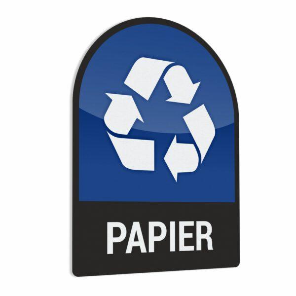 Naklejka na kosz lub pojemnik na odpady: Papier.