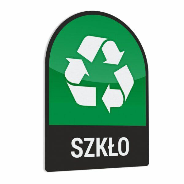 Naklejka na kosz lub pojemnik na odpady: Szkło.