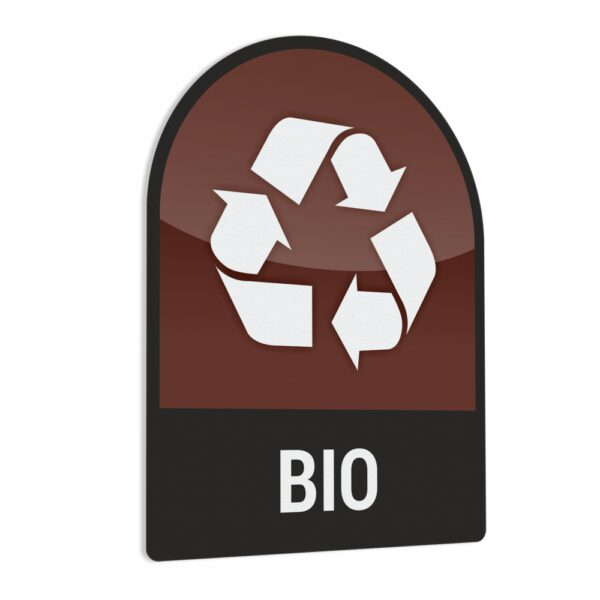 Naklejka na kosz lub pojemnik na odpady: Odpady BIO.