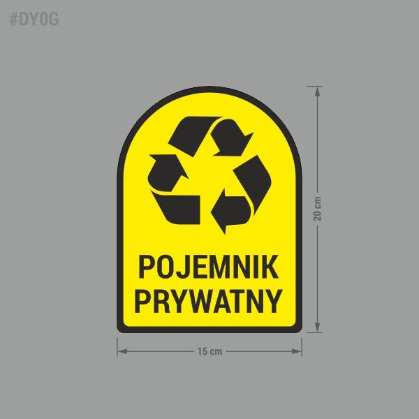 Naklejka na kosz lub pojemnik na odpady: Pojemnik Prywatny.