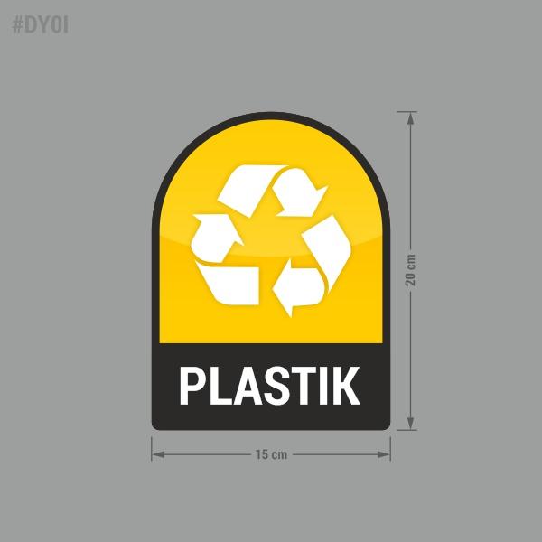 Naklejka na kosz lub pojemnik na odpady: Plastik.