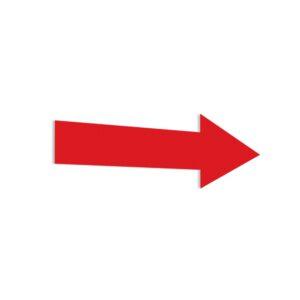 Naklejka: czerwona strzałka.