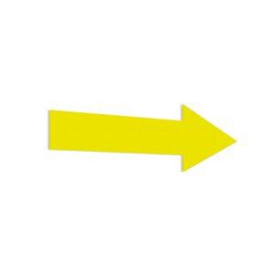 Naklejka: żółta strzałka.