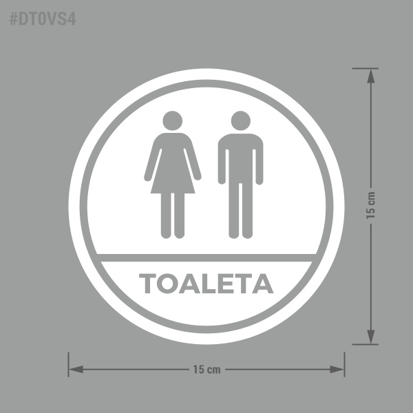 Naklejka informacyjna Toaleta, Toaleta Damska, Toaleta Męska.
