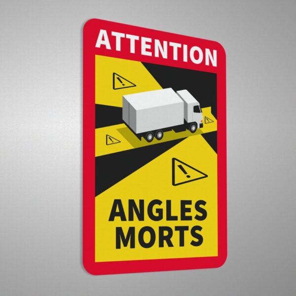 Naklejka informacyjna, ostrzegawcza Angles Morts, Martwe Pole.