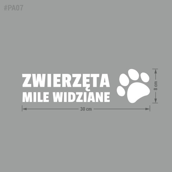 Naklejka informacyjna Zwierzęta Mile Widziane.