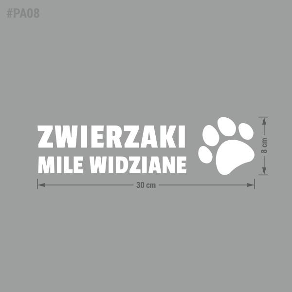Naklejka informacyjna Zwierzaki Mile Widziane.