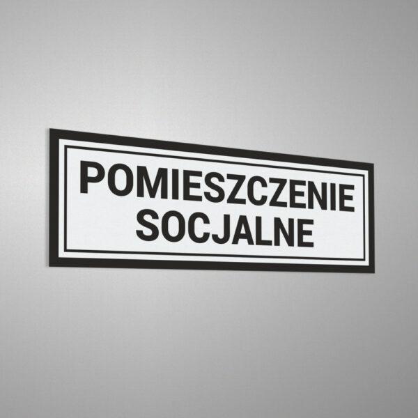 Naklejka informacyjna na drzwi: Pomieszczenie Socjalne.