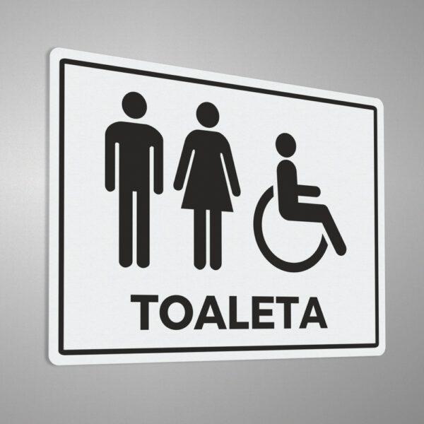 Naklejka informacyjna Toaleta, Toaleta Męska, Toaleta Damska, Toaleta dla Niepełnosprawnych.