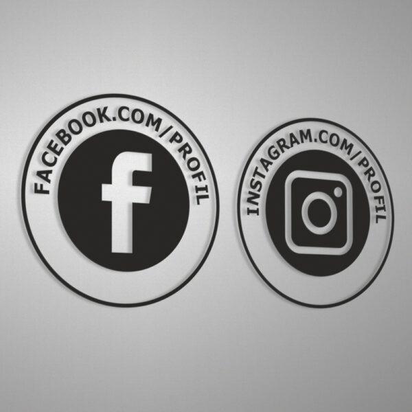 Naklejki społecznościowe informacyjne Facebook, Instagram.