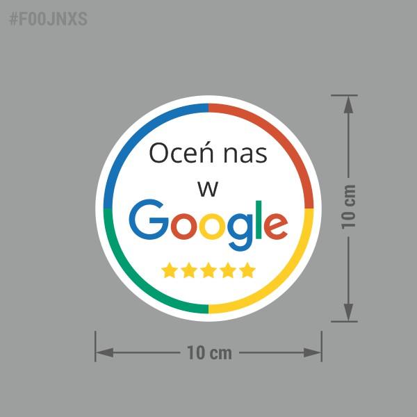 Naklejka informacyjna społecznościowa Oceń Nas w Google.