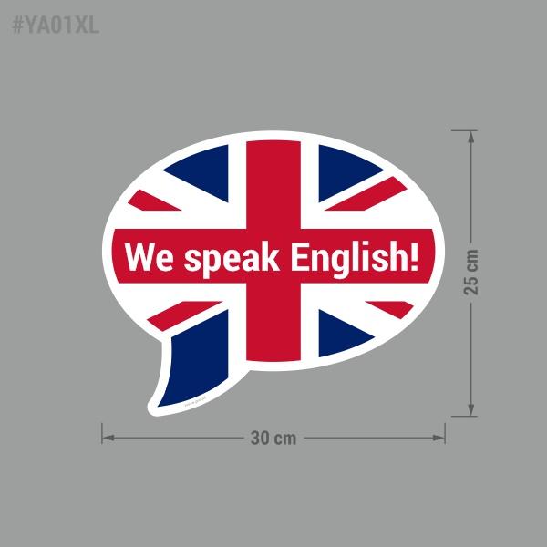 """Naklejka """"We Speak English!"""""""