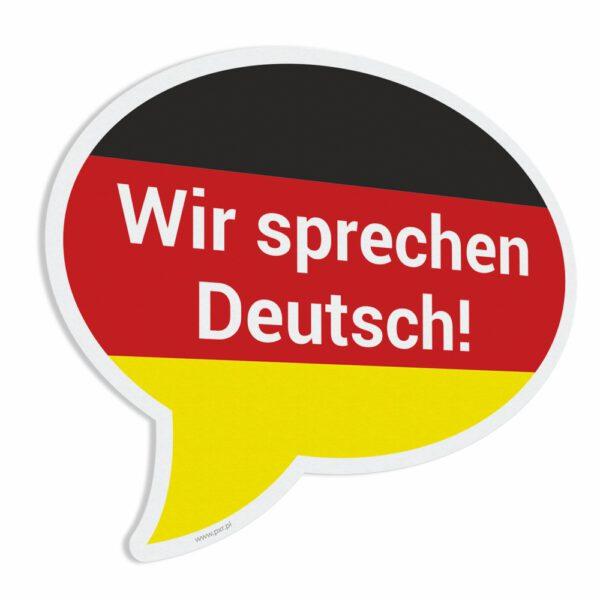 """Naklejka """"Wir sprechen Deutsch!"""""""