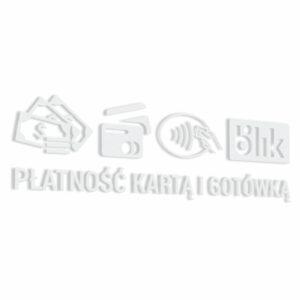Naklejka informacyjna Płatność Kartą i Gotówką, Blik.