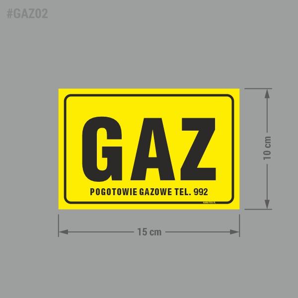 Naklejka informacyjna BHP GAZ.
